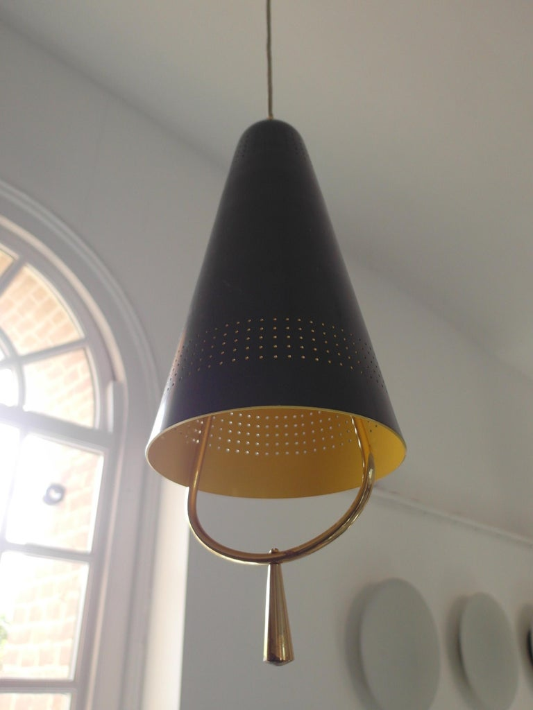 Scandinavian Modern Adjustable Pendel Pendant Light, Finland, 1950s For Sale 4