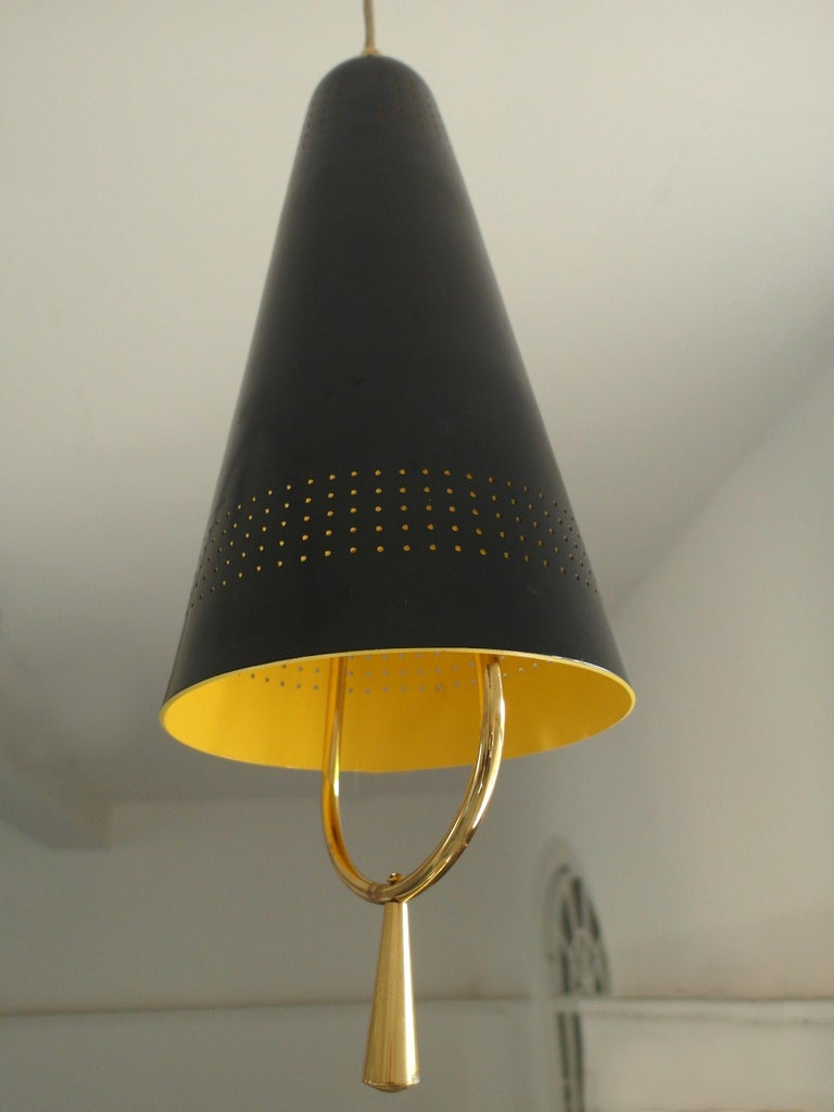 Scandinavian Modern Adjustable Pendel Pendant Light, Finland, 1950s For Sale 6