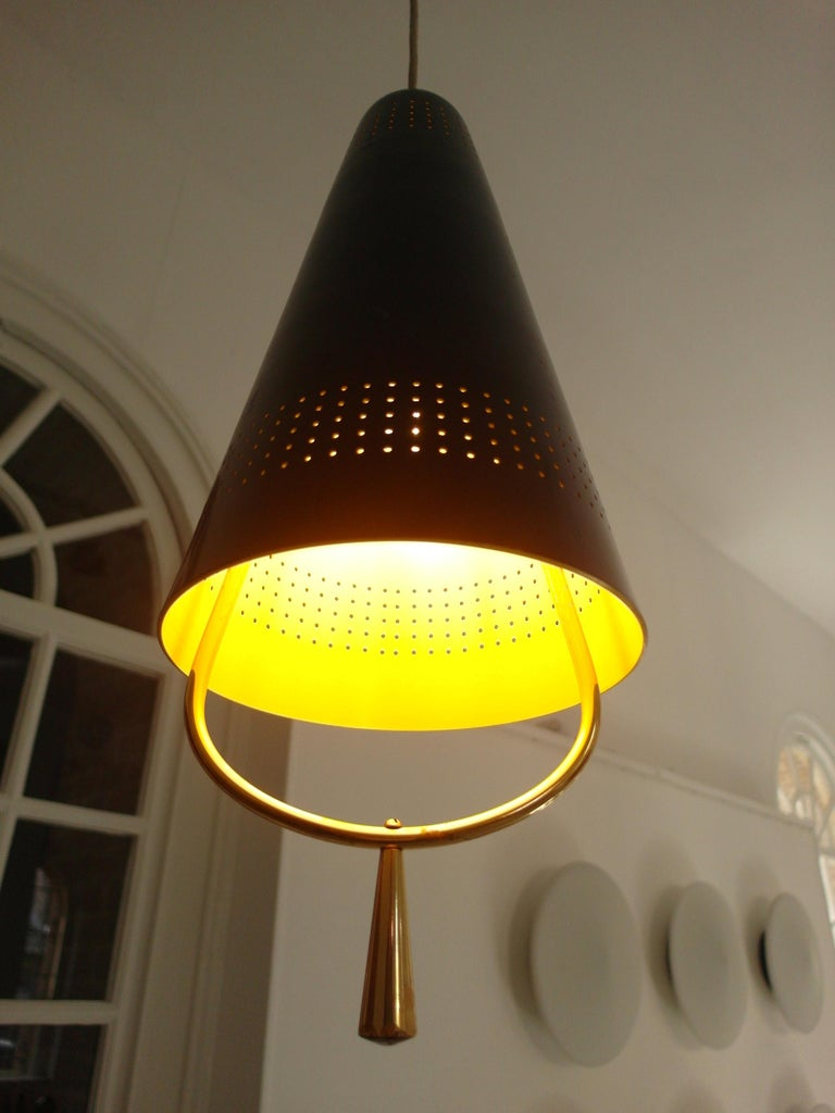 Scandinavian Modern Adjustable Pendel Pendant Light, Finland, 1950s For Sale 7