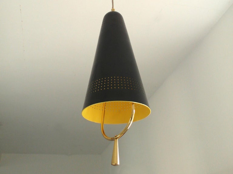 Scandinavian Modern Adjustable Pendel Pendant Light, Finland, 1950s For Sale 9