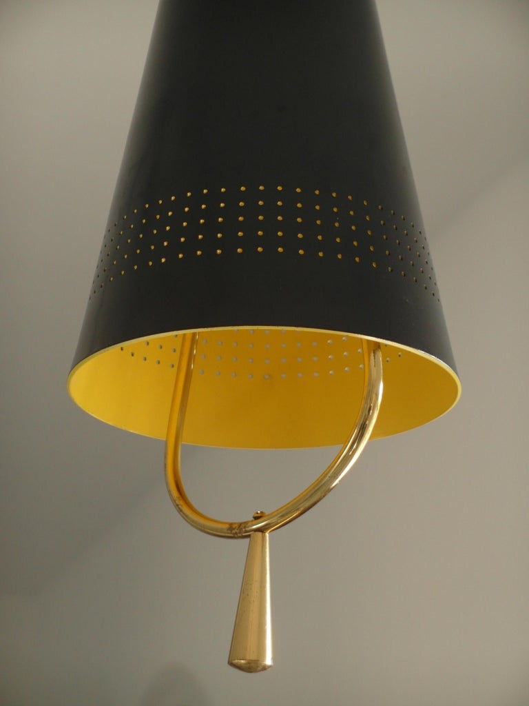 Scandinavian Modern Adjustable Pendel Pendant Light, Finland, 1950s In Good Condition For Sale In Woudrichem, NL