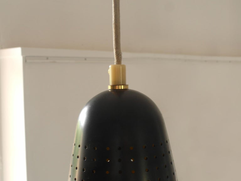 Metal Scandinavian Modern Adjustable Pendel Pendant Light, Finland, 1950s For Sale
