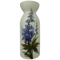 Scandinavian Modern Arabia Harebell Motif Earthenware Vase by Hilkka Liisa Ahola
