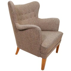Scandinavian Modern Arm Chair in the Style of Carl Malmsten
