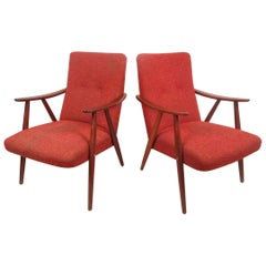 Scandinavian Modern Armchairs by Langlo's Fabrikker, a Pair