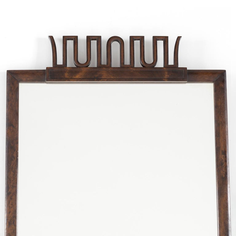 Swedish Scandinavian Modern, Art Deco Mirror by Axel Einar Hjorth for NK, Stockholm For Sale