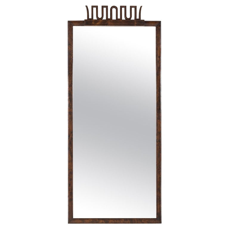 Scandinavian Modern, Art Deco Mirror by Axel Einar Hjorth for NK, Stockholm For Sale