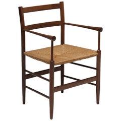 Scandinavian modern arts and crafts Sussex style teak armchair.