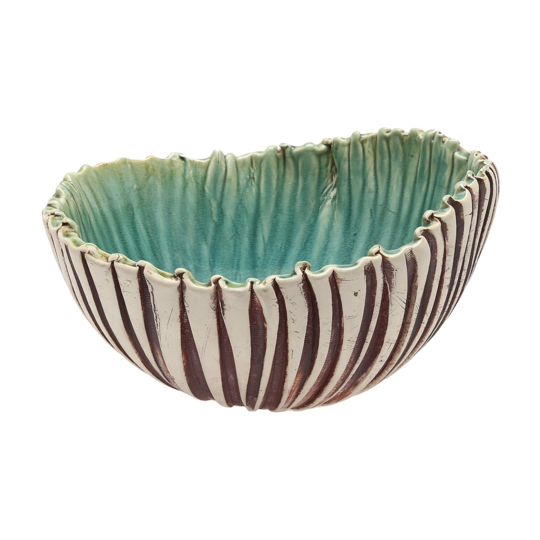 Scandinavian Modern Asymmetric Hand Built Bowl by Artist Bengt, Berglund