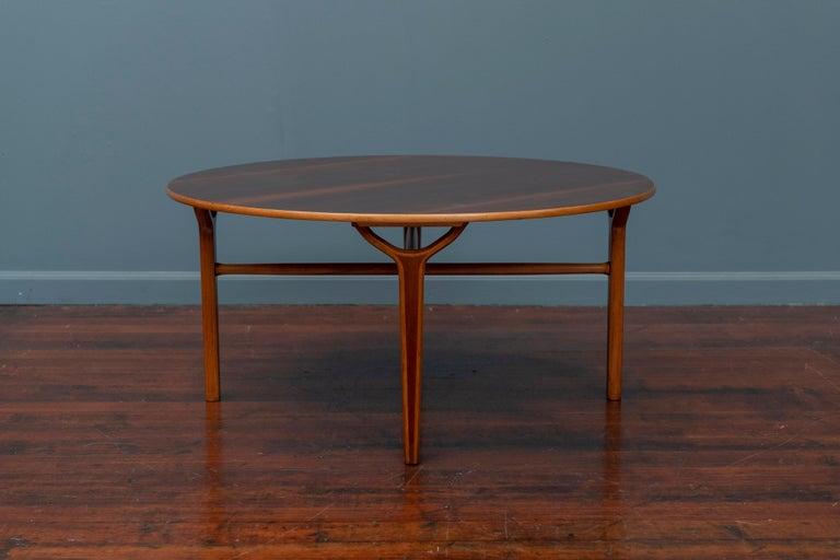 Danish Scandinavian Modern Ax Coffee Table by Peter Hvidt & Orla Moregaard