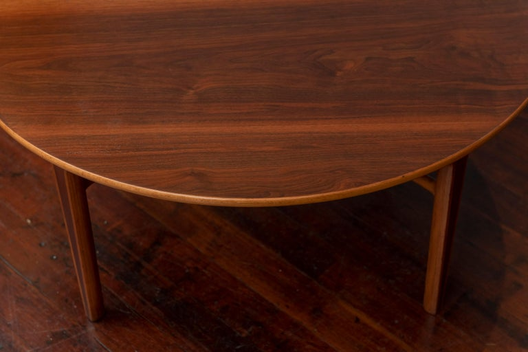 Teak Scandinavian Modern Ax Coffee Table by Peter Hvidt & Orla Moregaard