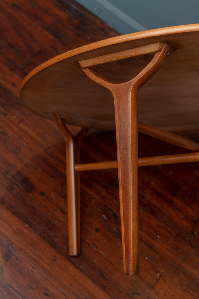 Scandinavian Modern Ax Coffee Table by Peter Hvidt & Orla Moregaard 2