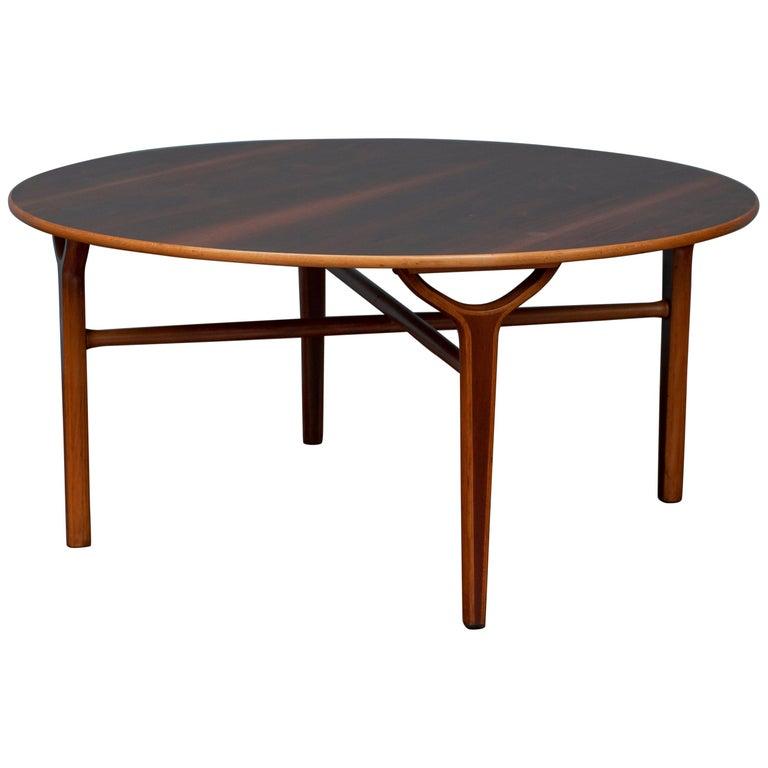 Scandinavian Modern Ax Coffee Table by Peter Hvidt & Orla Moregaard