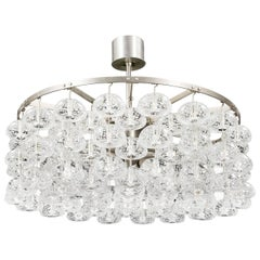 "Scandinavian Modern ""Bhaco"" Lead Crystal Chandelier by Jonas Hilde, Norway 1965"