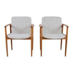Scandinavian Modern Birchwood Dining Chairs