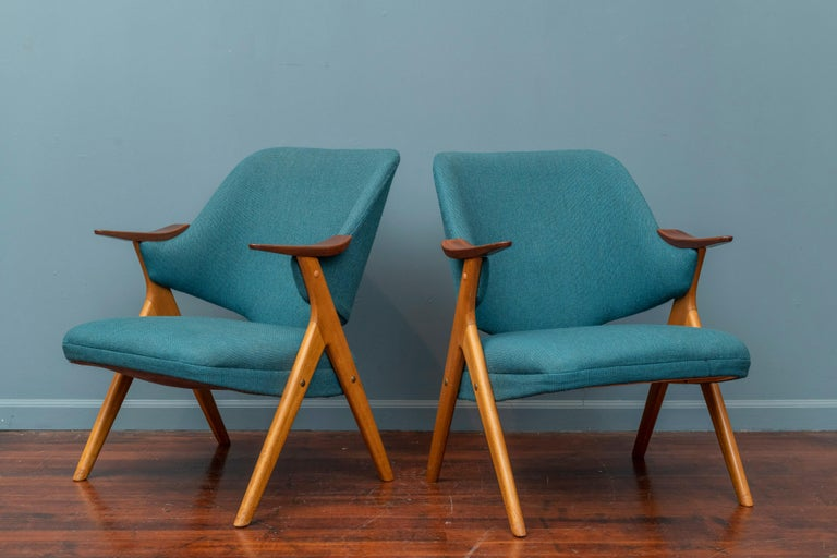 Scandinavian Modern Blinken Armchairs by Rastad & Relling In Good Condition For Sale In San Francisco, CA
