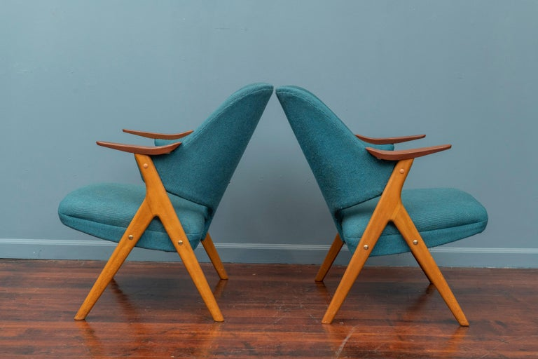 Mid-20th Century Scandinavian Modern Blinken Armchairs by Rastad & Relling For Sale