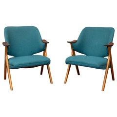 Scandinavian Modern Blinken Armchairs by Rastad & Relling
