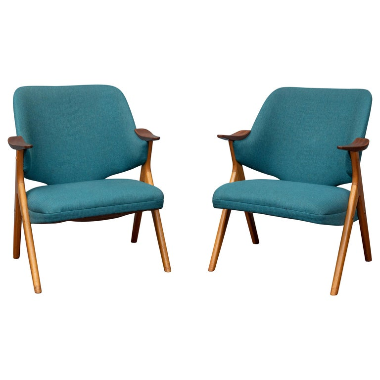 Scandinavian Modern Blinken Armchairs by Rastad & Relling For Sale