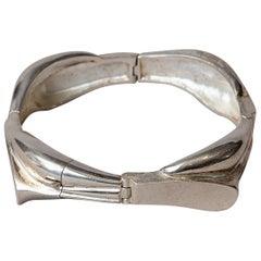 Scandinavian Modern Bracelet in Silver by Lapponia, Finland