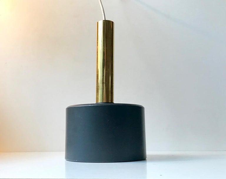 Mid-Century Modern Scandinavian Modern Brass Club Pendant Lamp, 1960s For Sale