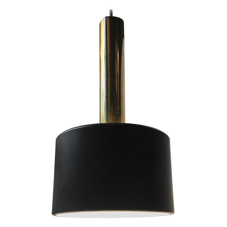 Scandinavian Modern Brass Club Pendant Lamp, 1960s For Sale