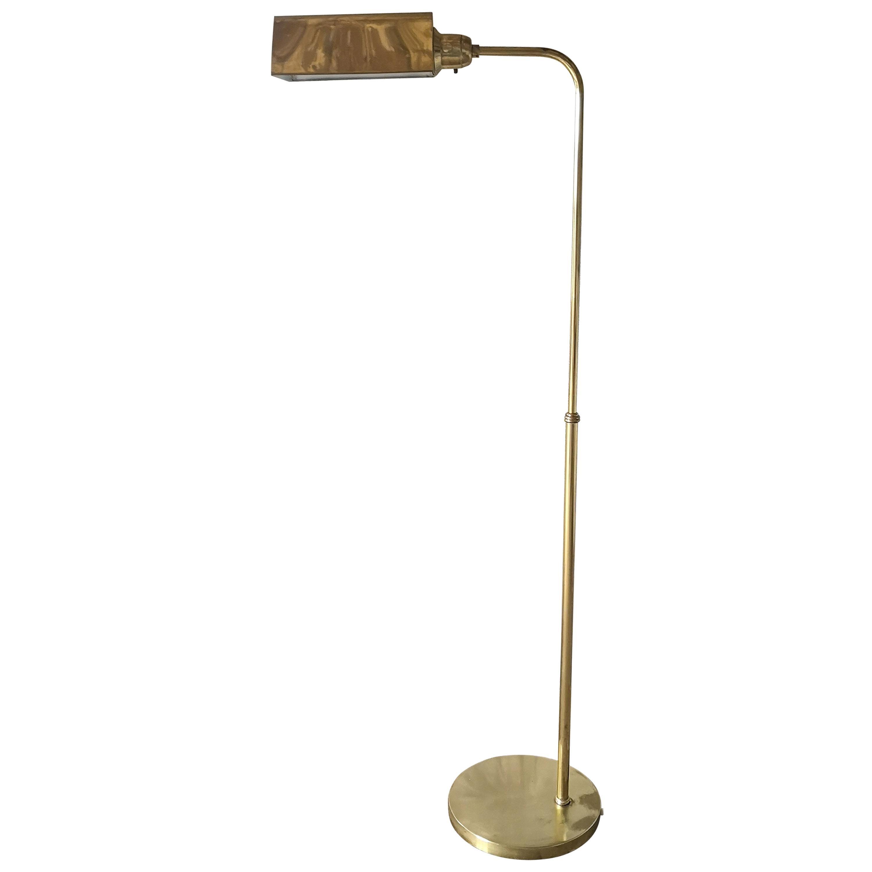 Scandinavian Modern Brass Floor Lamp Ewå, Sweden, 1970s