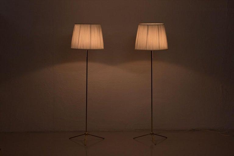 Scandinavian Modern Brass Floor Lamps