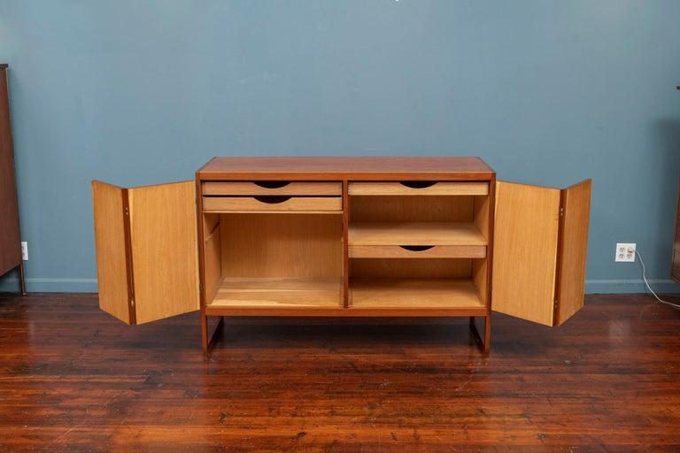 Brass Scandinavian Modern Cabinet by Borge Mogensen For Sale