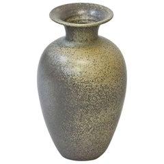 Scandinavian Modern Ceramic Floor Vase in Stoneware, Sweden, 1960s