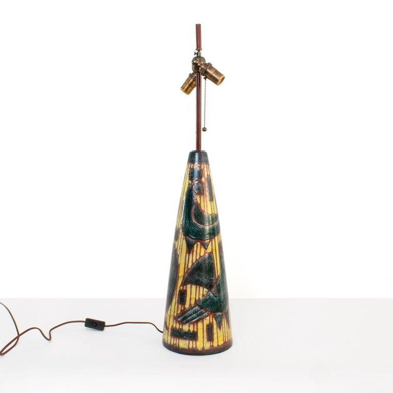 Glazed Scandinavian Modern Ceramic Lamp Designed by Marianne Starck, Michael Andersen For Sale