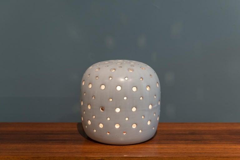 Scandinavian Modern Ceramic Table Lamp For Sale 1