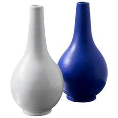 Scandinavian Modern Ceramic Vases by Vicke Lindstrand, Upsala Ekeby, 1940s