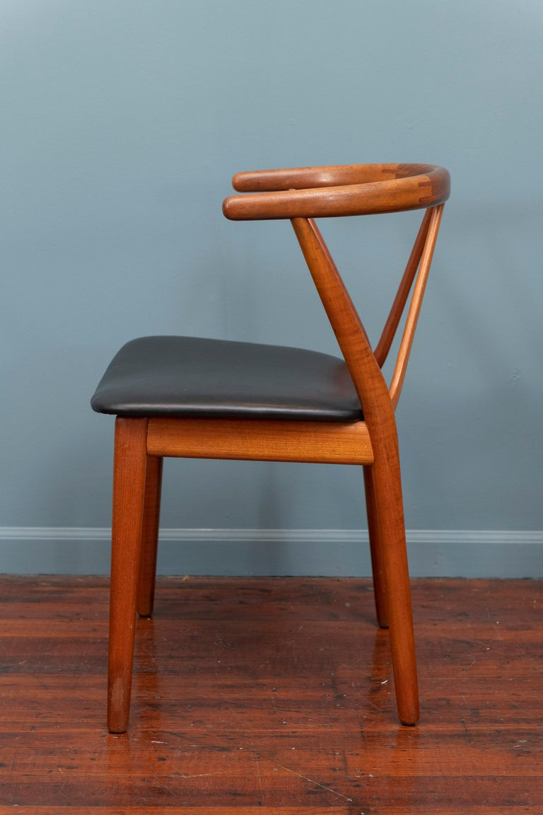 Scandinavian Modern Chairs by Henning Kjaernulf for Bruno Hansen In Good Condition For Sale In San Francisco, CA