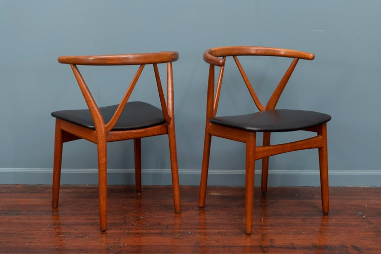 Teak Scandinavian Modern Chairs by Henning Kjaernulf for Bruno Hansen For Sale