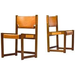 Scandinavian Modern Chairs by Sven Kai Larsen for Nordiska Kompaniet, Sweden