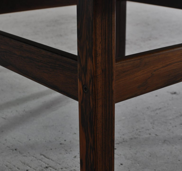 Scandinavian Modern Coffee Table by Erling Viksjö in Rosewood and Terrazzo  For Sale 7
