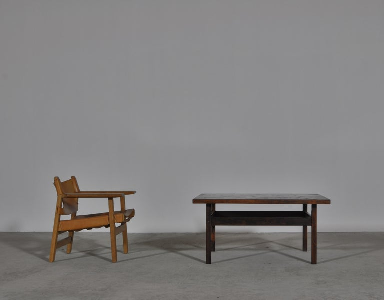 Scandinavian Modern Coffee Table by Erling Viksjö in Rosewood and Terrazzo  For Sale 9