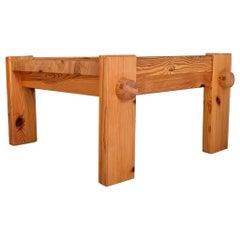 Scandinavian Modern Coffee Table in Pine by Yngve Ekström