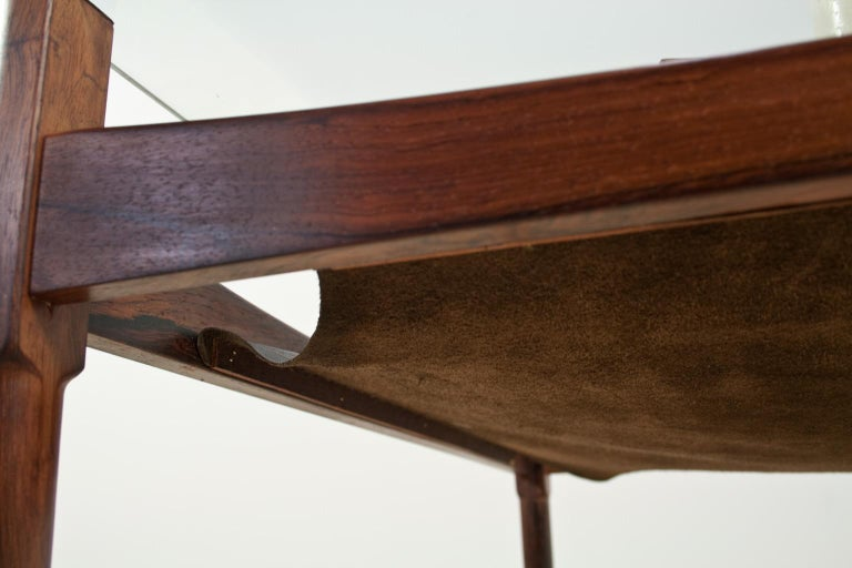 Scandinavian Modern Coffee Table in Rosewood and Glass by Kristian Vedel, 1960s For Sale 2