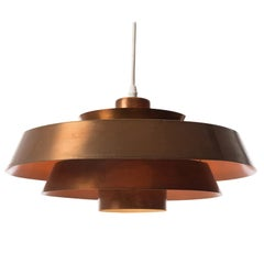Scandinavian Modern Copper Nova Pendant Light