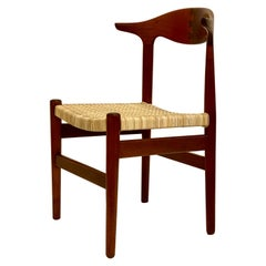 Scandinavian Modern Cow Horn Chair Attributed to Hans Wegner