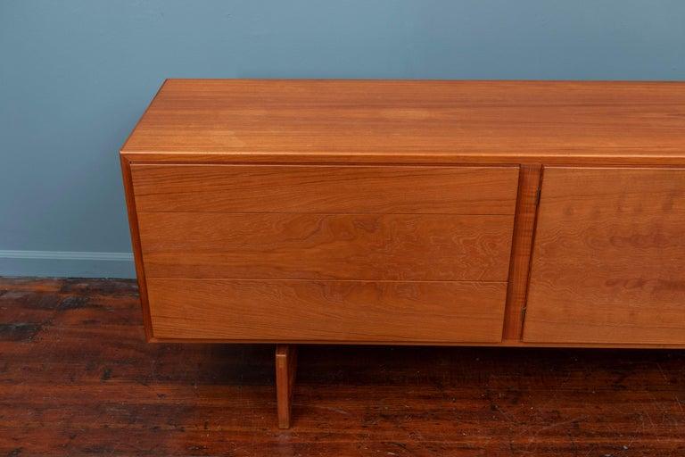 Danish Scandinavian Modern Credenza MK511 by Arne Hovmand Olsen for Mogens Kold For Sale