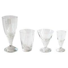 Scandinavian Modern Crystal Glass Designed by Ingeborg Lundin for Orrefors, 1959