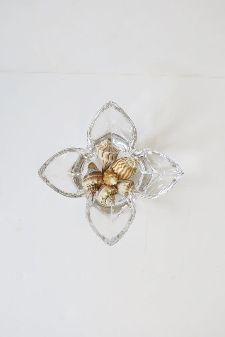 Scandinavian Modern Crystal Lotus Bowl by Designer Lars Hellsten For Sale 5