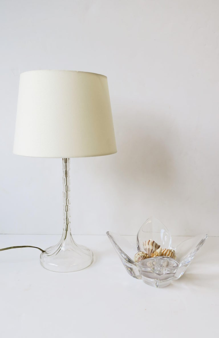 Scandinavian Modern Crystal Lotus Bowl by Designer Lars Hellsten For Sale 6