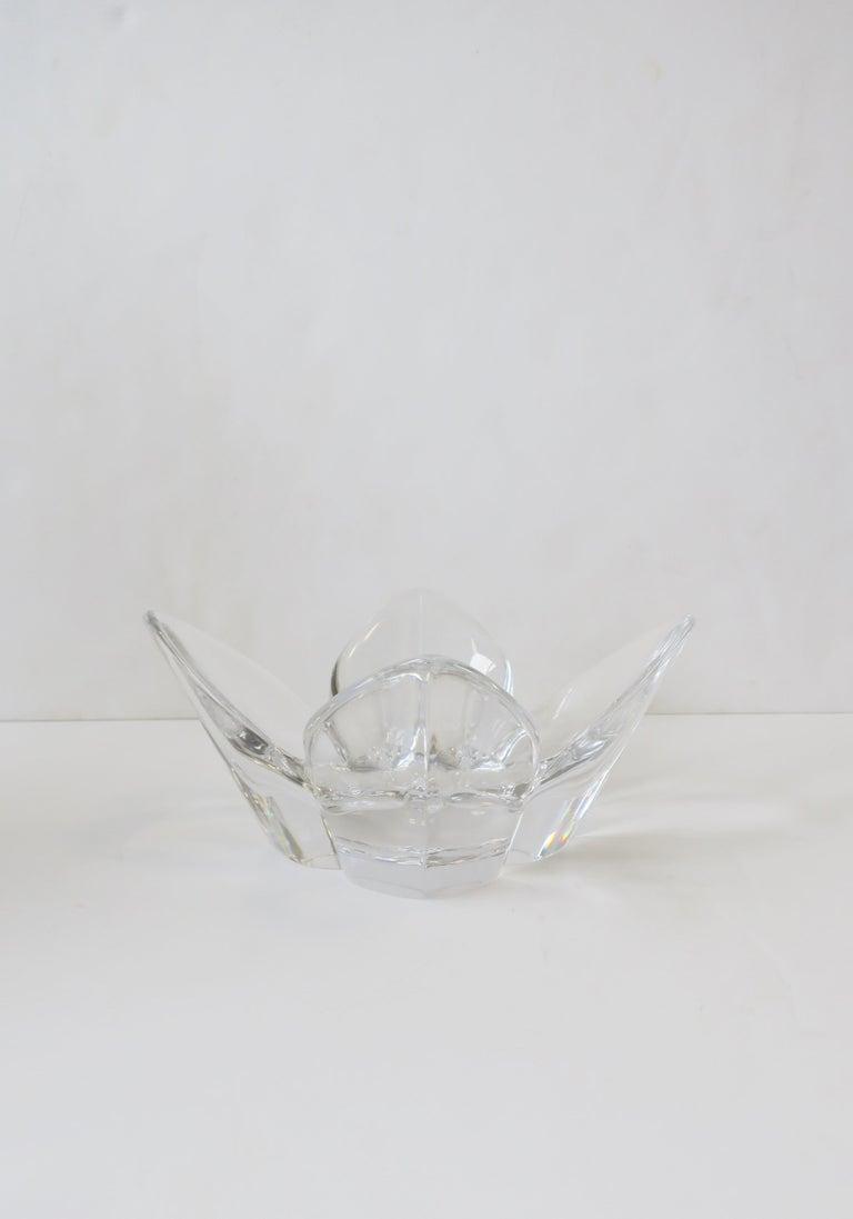 Scandinavian Modern Crystal Lotus Bowl by Designer Lars Hellsten For Sale 7