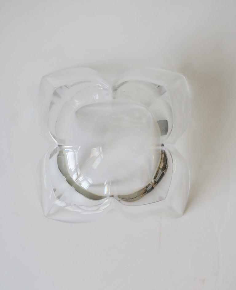 Scandinavian Modern Crystal Lotus Bowl by Designer Lars Hellsten For Sale 10