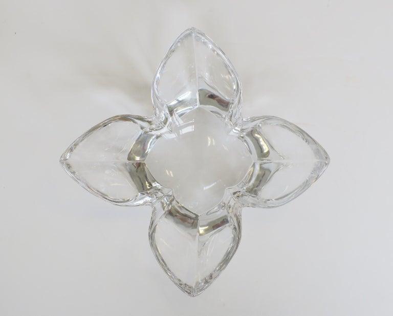 Organic Modern Scandinavian Modern Crystal Lotus Bowl by Designer Lars Hellsten For Sale