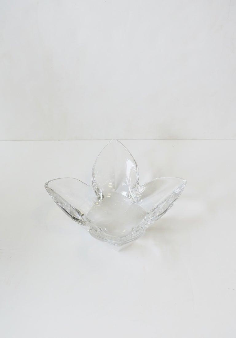 20th Century Scandinavian Modern Crystal Lotus Bowl by Designer Lars Hellsten For Sale